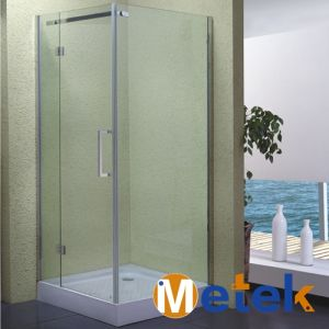 Hot Sale Sliding Glass Shower Doors with Roller and Tempered Glass pictures & photos