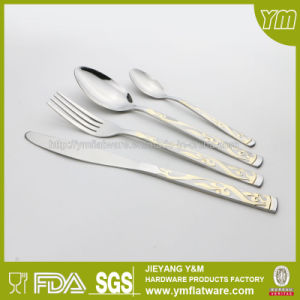 Stainless Steel Cutlery with Gold Plating with Different Package