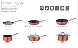 Forge Copper Non-Stick Aluminum Alloy Cookwares A1001 pictures & photos