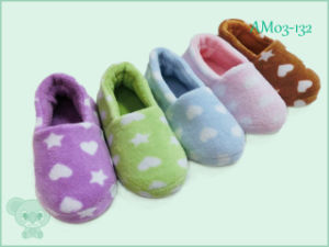 High Quality Winter Warm Cartoon Bear Animal Indoor Shoes Slipper for Children Kids pictures & photos