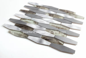 Aluminum Mix Glass Mosaic Pattern Tile for Wall pictures & photos