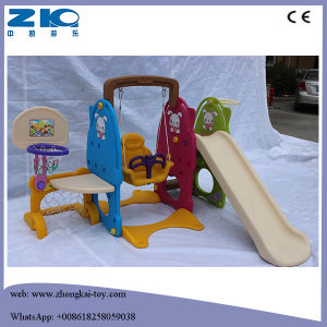 High Quality Indoor Outdoor Kids Plastic Baby Slide and Swing pictures & photos