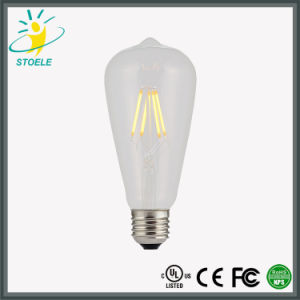 St64/St20 LED Filament Bulb UL Listed/Ce Certificate/ RoHS Compliant