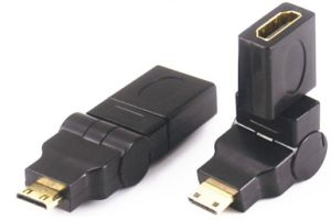 Mini HDMI Male to HDMI Female Adapter 360 Degree pictures & photos