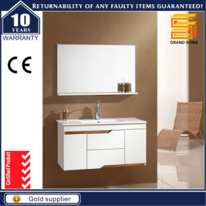 Sanitary Ware White Lacquer Bathroom Cabinet with Mirror Cabient pictures & photos