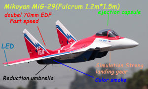Cheap Price EPP Foam MIG-29 RC Plane RTF