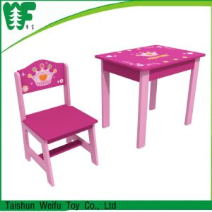 Kids Dining Colorful Table with One Chair pictures & photos