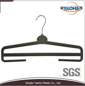 Women Plastic Trouser Hanger with Metal Hook (36cm) pictures & photos