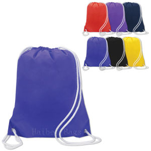 Reusable Drawstring Shopping Bag (HBDR-71) pictures & photos