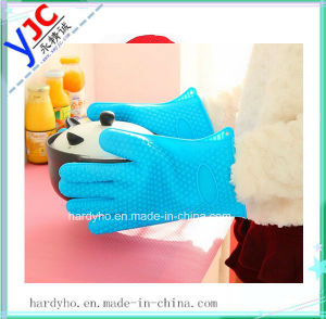 Heat Resistant Silicone Gloves/Silicone Oven Mitts for Oven Cooking/Silicone BBQ Baking Glove