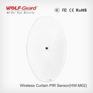 Wireless/Wired RF Transmitter Infrared Curtain Sensor /Alarm 433MHz PIR Detector pictures & photos