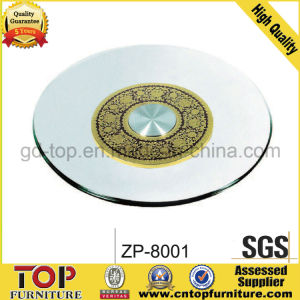Glass Plate Gold Lazy Susan pictures & photos