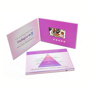 4.3inch LCD Screen Video Wedding Card pictures & photos