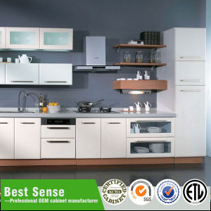 Best Sense Seller Display PVC White Kitchen Cabinet for Sale pictures & photos