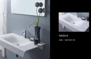 Acrylic Solid Surface Material Bathroom Basin (NX5015) pictures & photos