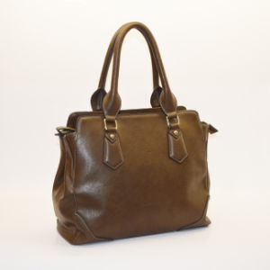 SD 252 Women Classic Brown Hand Bag