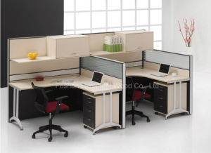 Hot Sale Office Workstation with Overhead Shelves (HF-LT033) pictures & photos