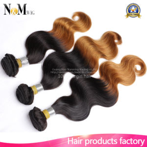 Cheap Cost Wholesale Hight Quality Body Wave Remy Peruvian Ombre Hair pictures & photos