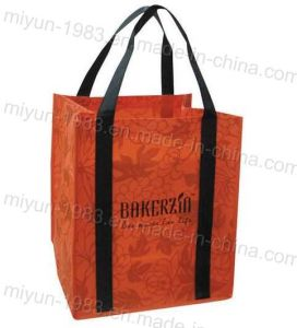 Recyclable Tote Bag with Reinforced Handles (M. Y. C. -013)