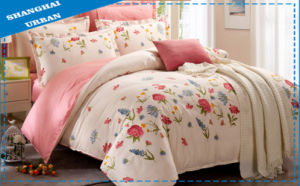 Spring and Summer 100%Cotton Floral Duvet Cover Set pictures & photos