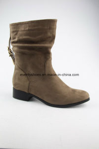 Classic Black Women Leather Boots for Winter pictures & photos