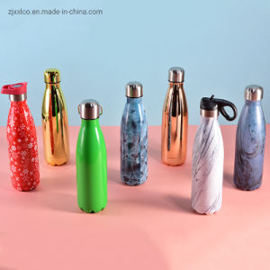 Customized Color Double Wall Insulated Water Bottle Stainless Steel Vacuum Thermos Flask
