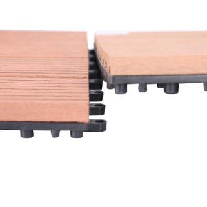 Outdoor 300 300 22mm Interlocking Eco Friendly Wpc Building Diy Deck Tile Material Laminate Wood Plastic Wpc Composite Diy Deck Floor Tiles
