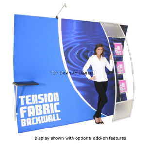 10FT Premium Curved Magnetic Pop up Display Advertising Printed Display /Tension Fabric Display Pop up Display pictures & photos