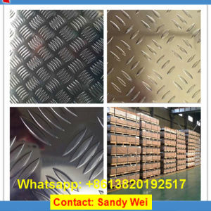 China Factory 1100 3003 5052 5754 6063 Anti-Skip Checker Tread Aluminum Plates pictures & photos