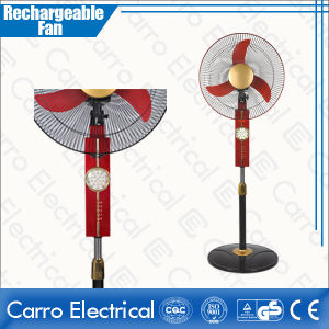 The Latest DC Solra Battery Operatied Rechargeable Stand Fan with LED Light CE-12V16k