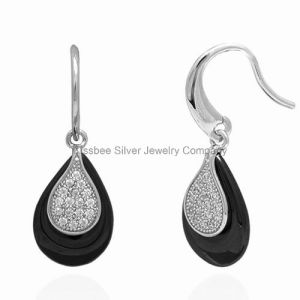 Ceramic Jewelry Silver Fashion Drop Earring (E21076) pictures & photos