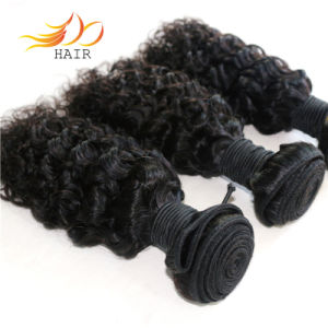 Jerry Curl Hair Weft 100% Peruvian Remy Hair Natural Color pictures & photos