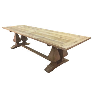 China 8 Seats Wood Rustic Elm Barade Dining Table