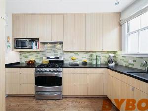 Modern White Flat Laminated Modular Wood Kitchen Cabinet By L 108