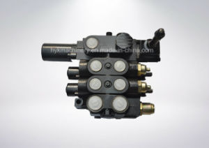 Three Spool Hydraulic Multiway Control Industrial Valve with Lifting 4wree6