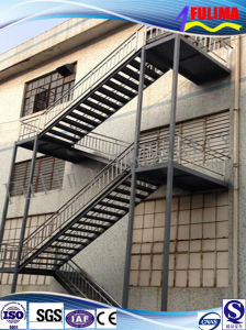 China Easy Assembled Hight Quality Steel Structure Stair