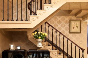 Interior Steel Stairs Railing Designs pictures & photos