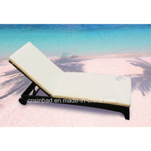 Outdoor Rattan Lounge for Single with Two Wheel / SGS (9517-1)