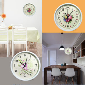 12 Inch Home Decoration Plastic Home Goods Wall Clock, Round Plastic Wall Clock (LZ008) pictures & photos