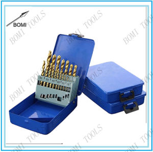 19PC HSS 4341 Drill Bit Set Titanium Coated
