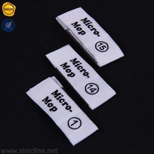 Middle Fold Woven Label with Brand Stitching for Garment