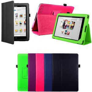 "Boust 9"" Tablet Leather Smart Stand Case Cover Protector for Barnes & Noble Nook HD Bst- Achb"