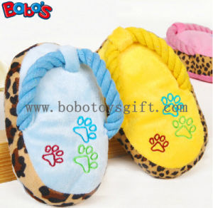 "5.2""Plush Stuffed Slipper Pet Toy with Squeaker in 3 Colors BOSW1079/13CM pictures & photos"