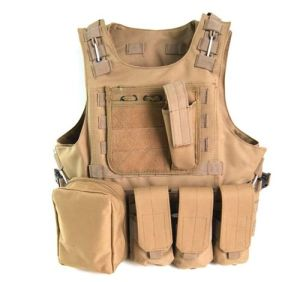 6colors Tactical Molle Airsoft Vest Paintball Rig with Hydration Water Reservoir