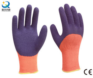 Cotton Shell Latex 3/4 Coated Work Gloves pictures & photos