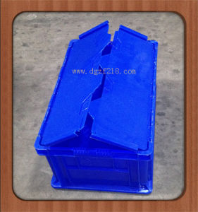 Durable Plastic Storage Container with Cover for Warehouse (ZFB-35)