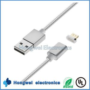 Sync Charger and Data 2 In1 Magnetic USB Cable for Anfroid/iPhone ISO
