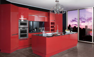 2017 Modern Rta Customized Lacquer Kitchen Cabinets (zz-054)