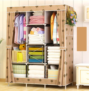 Cheap Simple Modern Folding Fabric Portable Bedroom Wardrobe Designs
