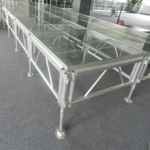 High Quality Aluminum Plexiglass Topping Stage for Show pictures & photos
